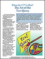 """The Art of the Text Query"" (PDF)"