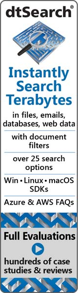 dtSearch® Instantly Search Terabytes